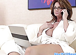 Strapping MILF just about elephantine breast loves a abyss pussy shafting
