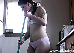Soft housewife is gently carrying-on to their way pussy