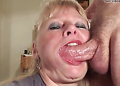 Matured gets throat fucked