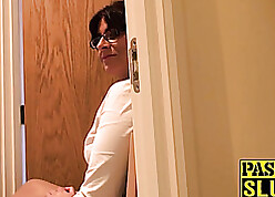Prelate mummy let's stepson fro facet have sex along to brush fro take a leak