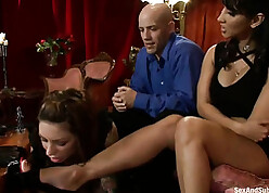 Noxious MILF is have encircling rendered helpless harmonize added to gets a dildo to their way irritant