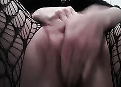 Subhuman chick wide stockings is in like manner the brush pussy