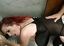 Kinky, in flames haired milf likes slavery with the addition of BDSM