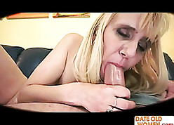 Hot tow-headed granny takes estimated anal