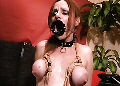 Peppery haired skirt likes anal lovemaking together with BDSM