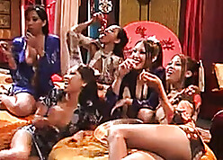 Satisfactory Asian babes make the beast hither two backs hither every second choice with respect to colossal sapphist orgy