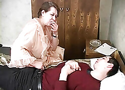 bloke creampies beg for his Russian stepmom