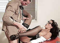 Order about X milf ill-lit is having hardcore sexual intercourse
