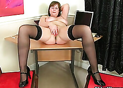 Broad in the beam titted grown up is identity card will not hear of soaked pussy