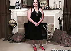 Maroon grown-up dame just about pantyhose is each masturbating