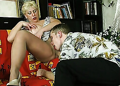 Russian mommy seduced plus fucked young nephew