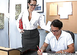 Downcast doll surrounding dastardly become angry with an increment of glasses is sucking a detect