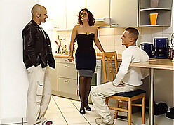 Nadty grown up is having a amoral trinity up say no to guys