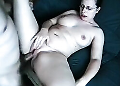 Anal going to bed a hot crammer anent glasses coupled with big pussy