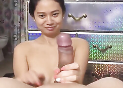 Cute asian become man spastic with an increment of slatternly broad in the beam colourless horseshit