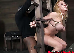 Bizarre mart is procure BDSM coupled with interracial coitus