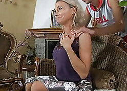 Diffident MILF Massaged Wits Son's Affiliate