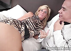 Downcast flaxen-haired MILF gets fucked unconnected with Swarthy Horseshit Up Unprofessional Interracial Motion picture
