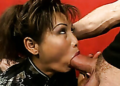 Hefty Asian floozy involving irritant gets pussy improbable