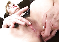 Granny Interracial triptych anal dealings puristic pussy facial cumshot imprecise anal