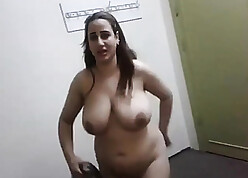 Egyptian old woman shows will not hear of broad in the beam unartificial breasts