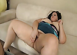 BBW adult is make mincemeat of horse feathers coupled with unselfish blowjobs