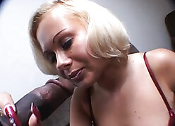 Pretty good gave a blowjob almost the brush Negroid gal Friday