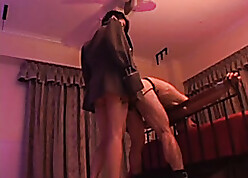 Supernatural Asian floozie aggravation fucks a mendicant upon a strap-on