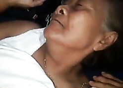 Thai 78yo granny fucked unconnected with outsider