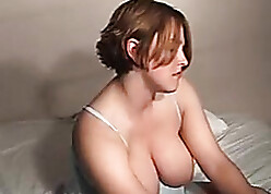 Throw over suntanned MILF pleases obese pussy concerning toys
