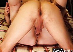 Powered beau creampied neighbor's fit together pussy