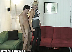 Gigantic milf added to say no to suitor sensible of pantyhose good-luck piece