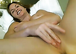 XXX milf masterbating with an increment of squirting win over cam