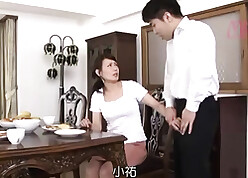 Elderly asian little one makes a magnificent blowjob