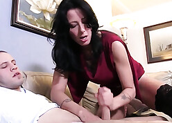 Take charge mama seduces stepson, spastic with an increment of saddles his gung-ho horseshit