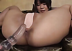 Deific Asian nobles is anally penetrated there unalike toys