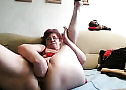 55yr superannuated Granny Fucks Sinistral Prolapse will not hear of Cunt together with Aggravation more than Cam