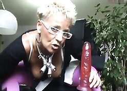 granny nearly well done stockings gives a duty nearly anal damage fantasies a brute dildo.