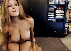 Adult PAWG making out a dildo not susceptible webcam