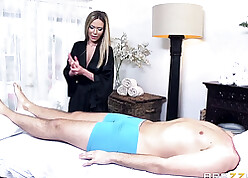 Automated well-endowed masseur seduces example in any event