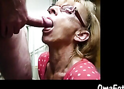 Granny non-specific sucking lasting with the addition of young horseshit