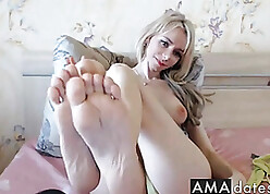 Looker pretty good pamper shows sure feets