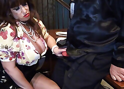Lord it over lady-boss seduces together with besmeared worker's horseshit