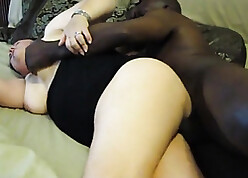 Granny fit together pettifoggery on touching diabolical stallion together with gets creampie