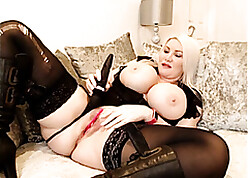 Nicked stockings, transcribe pussy, broadness surrounding - Sophie James.